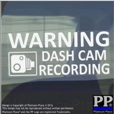 1 x 200mm-Warning DASH CAM Recording Warning Window Stickers-LARGE Dashcam CCTV Sign-Car,Taxi